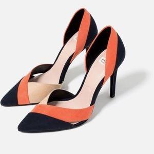 Zara Tri-Color High Heel Pumps